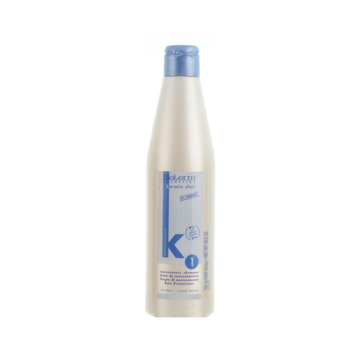Keratin shot ba o de mantenimiento shampoo salerm - Bano de keratina ...
