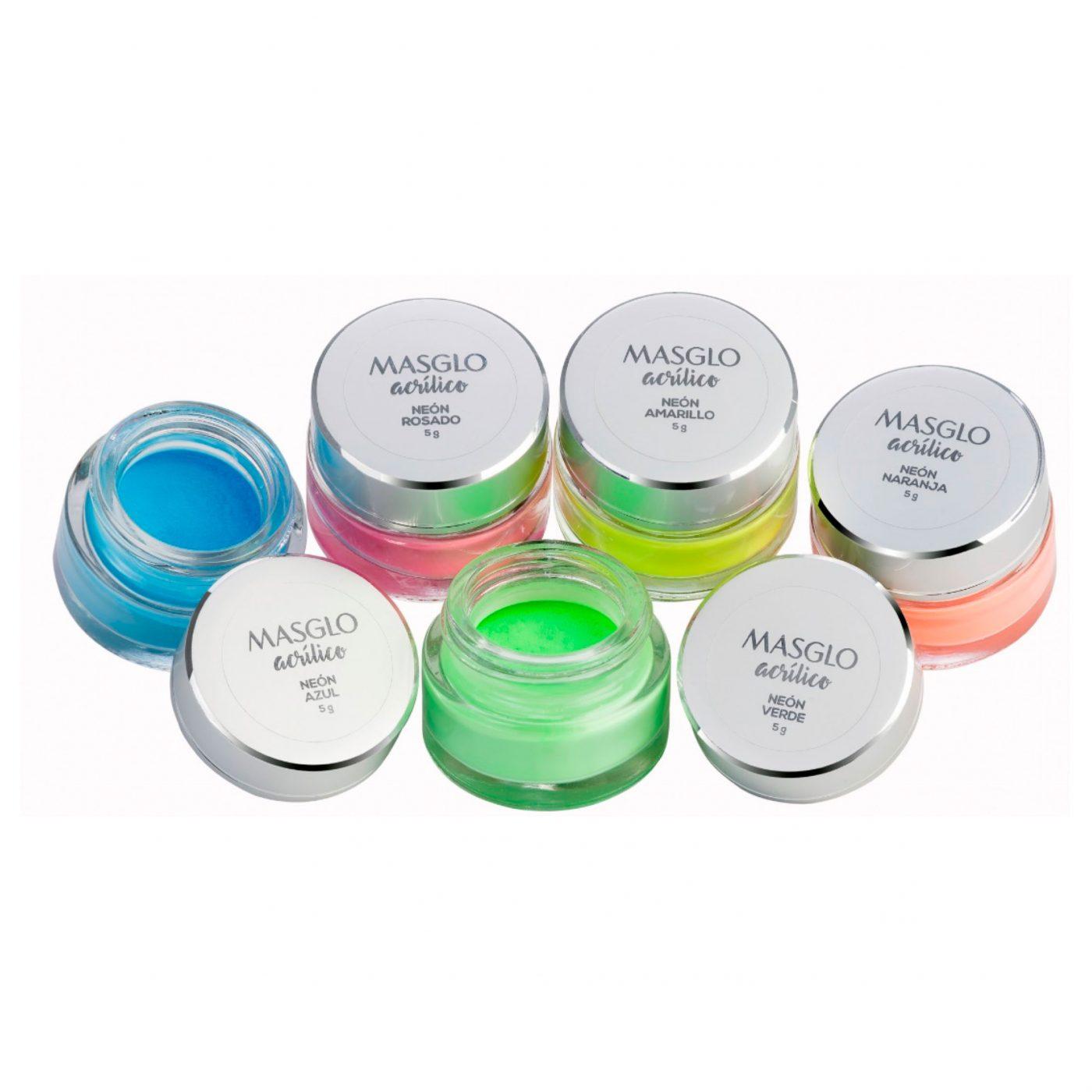 Kit Acrílico Colección Neon Masglo | Tienda de la Belleza