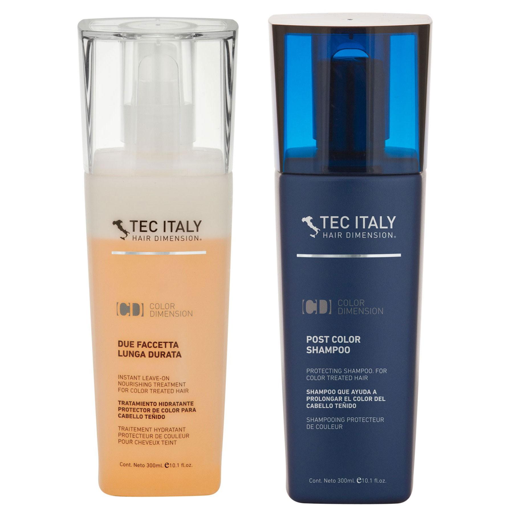 Kit Post Color Shampoo - Tratamiento Due Faccetta Tec Italy