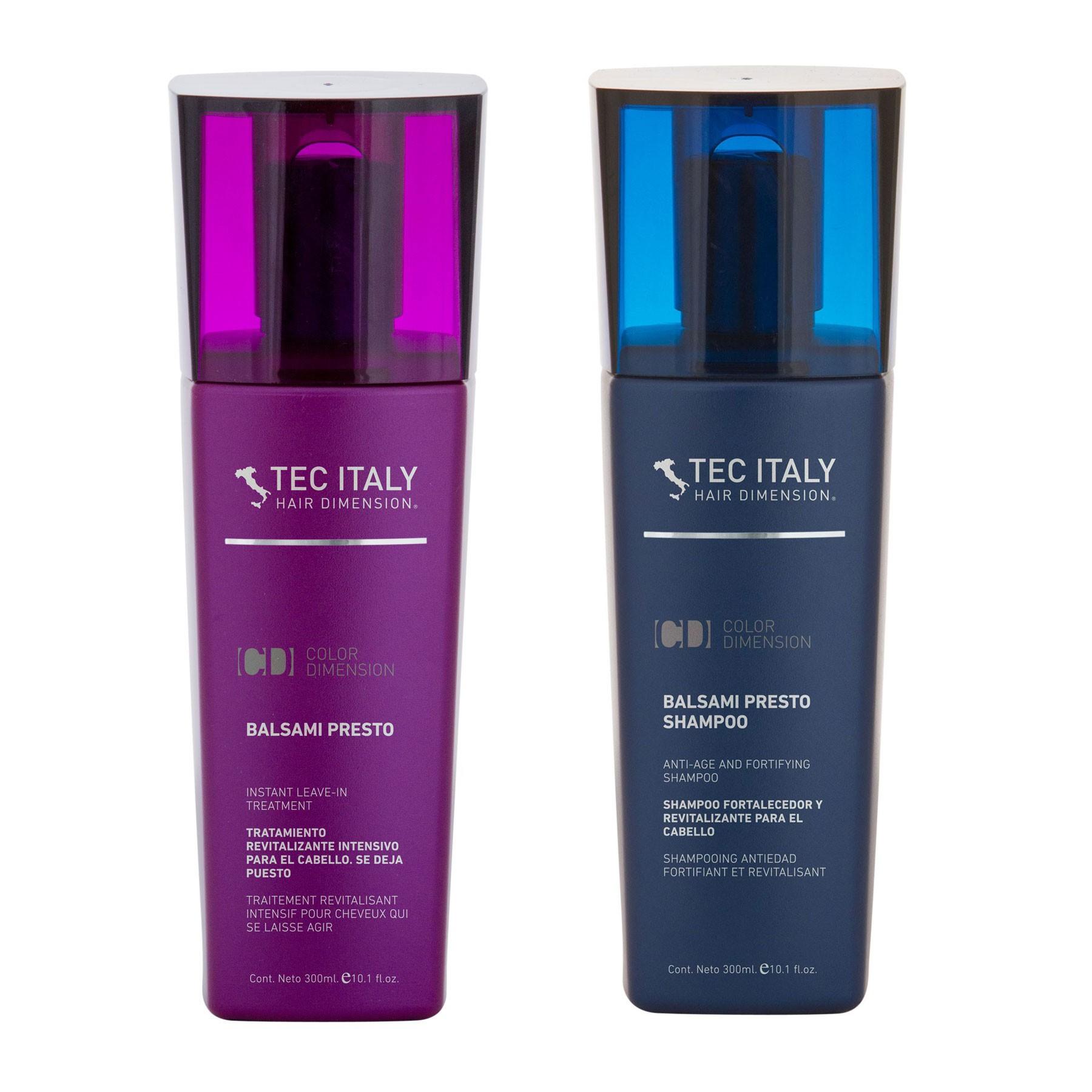 Kit Fortalecedor / Revitalizador Shampoo - Tratamiento Balsami Presto Tec Italy
