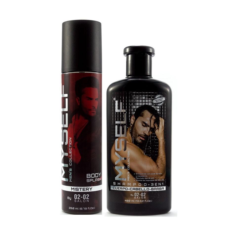 Kit Myself Shampoo 3 en 1 - Body Splash Mistery