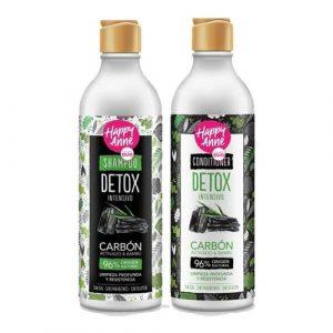 Kit Detox Carbón Activado y Bambú Shampoo - Acondicionador Vegano Happy Anne