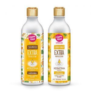 Kit Extra Fortalecedor Shampoo - Acondicionador Vegano Happy Anne