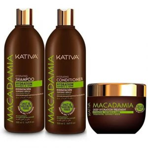 Kit Completo Macadamia Shampoo - Acondicionador - Tratamiento Kativa