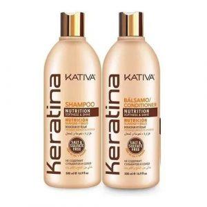Kit Keratina Shampoo - Balsamo Kativa